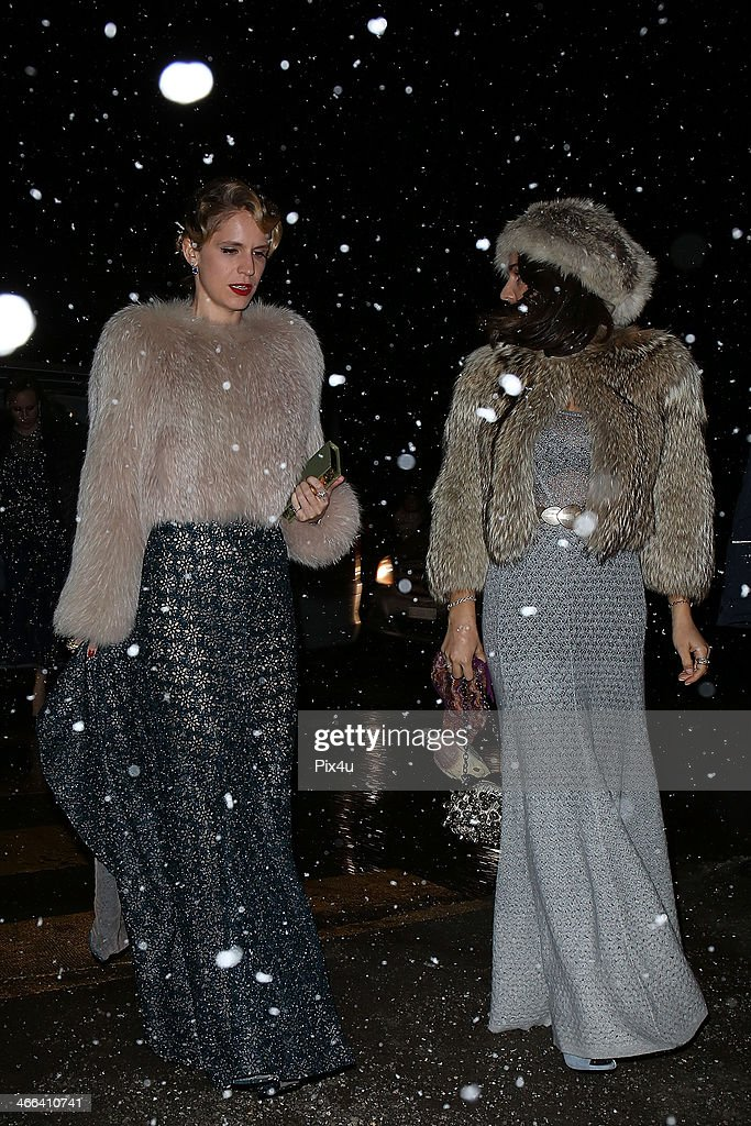 Eugenia Niarchos attends the wedding of Andrea Casiraghi And Tatiana Santo Domingo at the Rougemont church on February 1, 2014 in Gstaad, Switzerland.