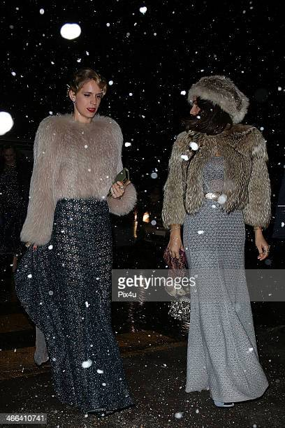 Eugenia Niarchos attends the wedding of Andrea Casiraghi And Tatiana Santo Domingo at the Rougemont church on February 1 2014 in Gstaad Switzerland