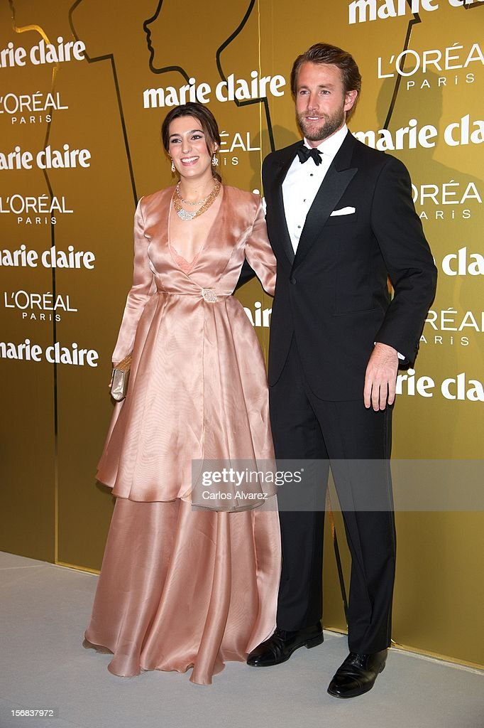Eugenia Ortiz and husband attends Marie Claire Prix de la Moda Awards 2012 at the French Embassy on November 22, 2012 in Madrid, Spain.