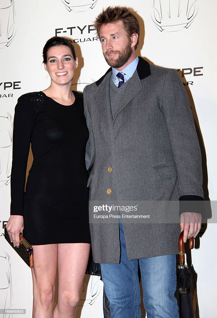Eugenia Ortiz Osborne and Juan Melgarejo attend the presentation of new Jaguar F-Type on April 4, 2013 in Madrid, Spain.