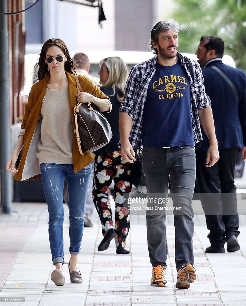 Eugenia Silva and Alfonso of Bourbon are seen on July 2 2013 in Madrid Spain