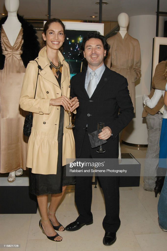 Eugenia Silva and Gaetano Sallorenzo during Giorgio Armani and Barneys NY Party at Barneys New York in New York New York United States