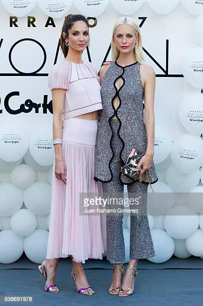 Eugenia Silva and Poppy Delevingne attend 'Serrano 47 Woman' presentation at El Corte Ingles on June 7 2016 in Madrid Spain