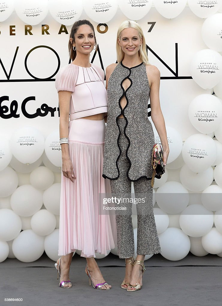 Eugenia SIlva and Poppy Delevingne attend the El Corte Ingles 'Serrano 47 Women' presentation on June 7 2016 in Madrid Spain