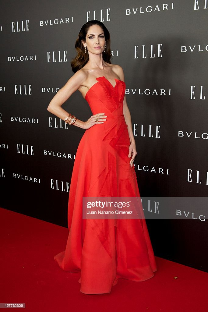 Eugenia Silva attends Elle Style Awards 2014 photocall at Italian Embassy on October 23 2014 in Madrid Spain