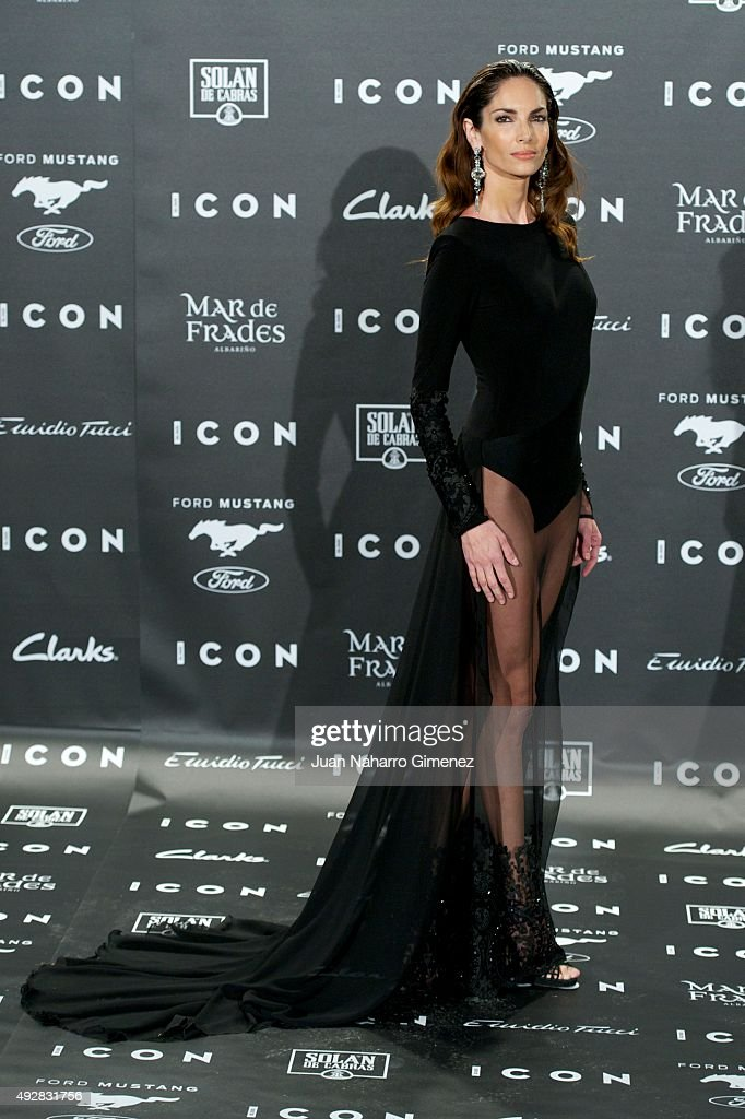 Eugenia Silva attends fashion 'ICON Awards Men of the Year' at Casa Velazquez on October 15 2015 in Madrid Spain