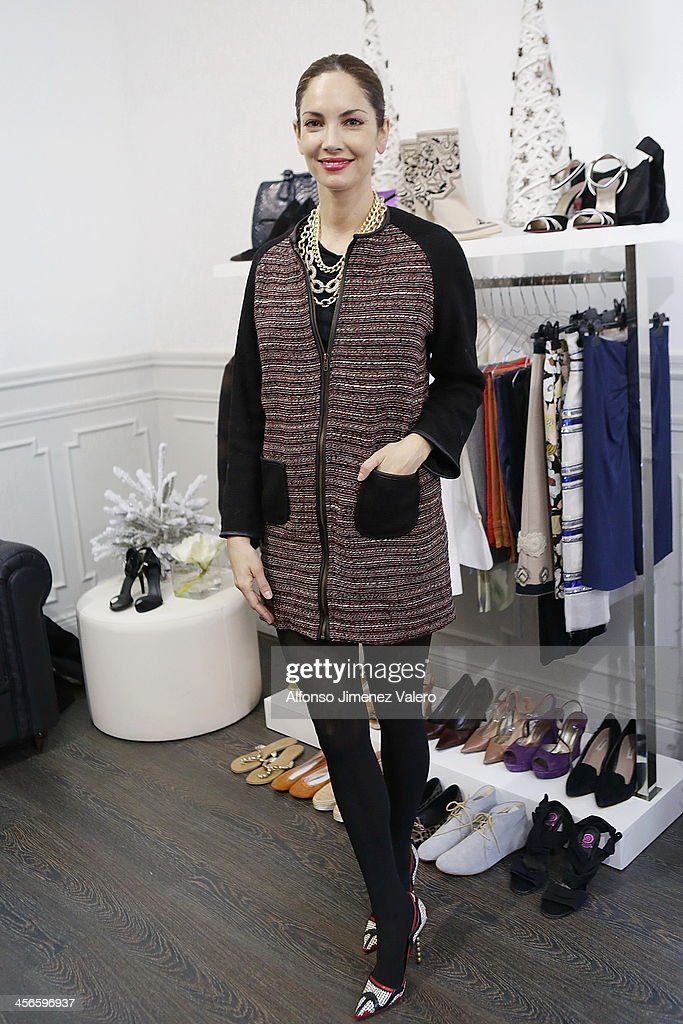 Eugenia Silva attends 'IT VIP' Pop Up Store in Madrid at Palacete El Imparcial on December 14 2013 in Madrid Spain