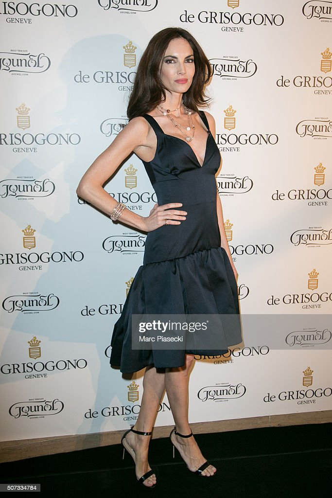 Eugenia Silva attends the 'De Grisogono' La Boetie cocktail on January 28 2016 in Paris France