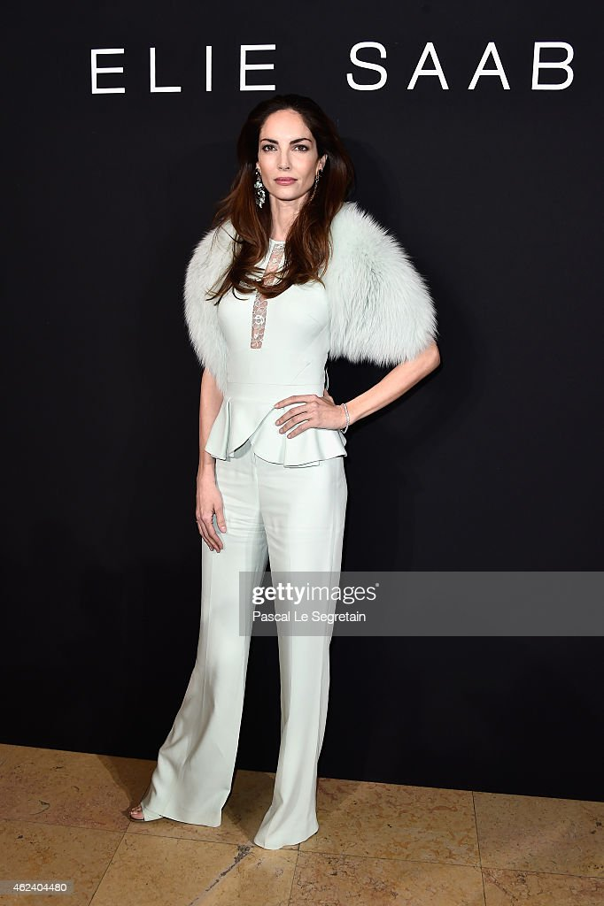 Eugenia Silva attends the Elie Saab show as part of Paris Fashion Week Haute Couture Spring/Summer 2015 on January 28 2015 in Paris France