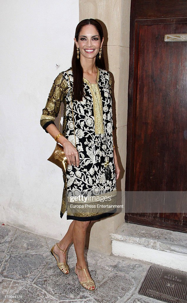 Eugenia Silva attends the wedding of Adriana Abascal and Emmanuel Schreder on June 28 2013 in Ibiza Spain