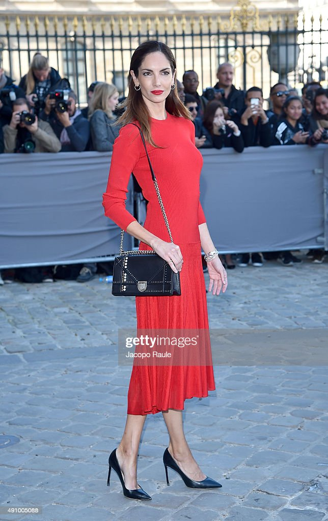Eugenia Silva is arriving at Dior Fashion Show during the Paris Fashion Week S/S 2016 Day 4 on October 2 2015 in Paris France