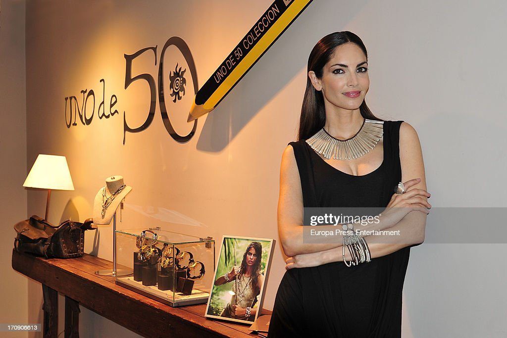Eugenia Silva presents her jewelry collection for 'Uno De 50' on June 19 2013 in Madrid Spain