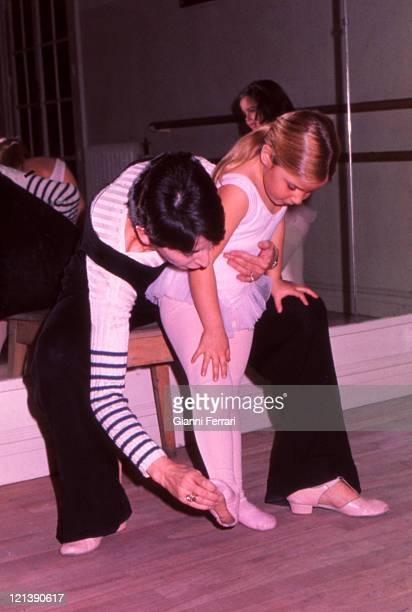 Eugenia XI Duchess of Montoro daughter of the Duchess Cayetana of Alba at a Dance Academy Madrid Spain