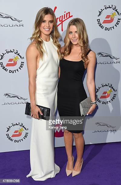 Eugenie Bouchard and Charlotte Bouchard attend the WTA PreWimbledon Party at Kensington Roof Gardens on June 25 2015 in London England