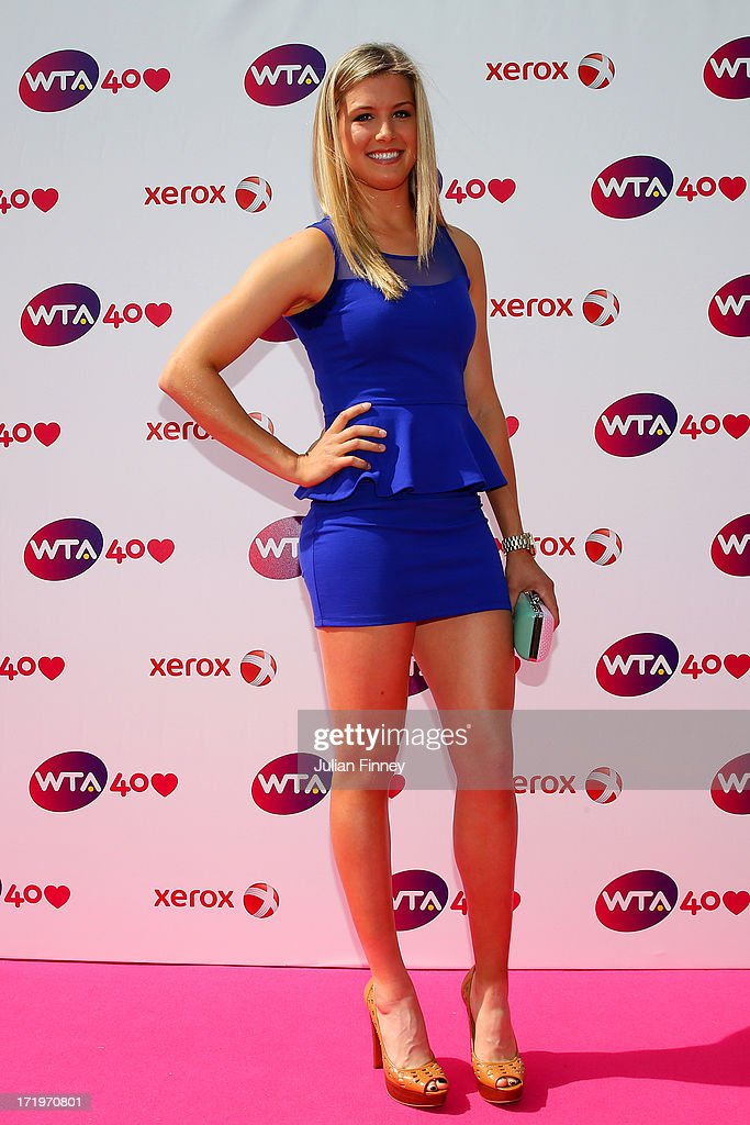 Eugenie Bouchard arrives for the WTA 40 Love Celebration during Middle Sunday of the Wimbledon Lawn Tennis Championships at the All England Lawn Tennis and Croquet Club on June 30, 2013 in London, England.