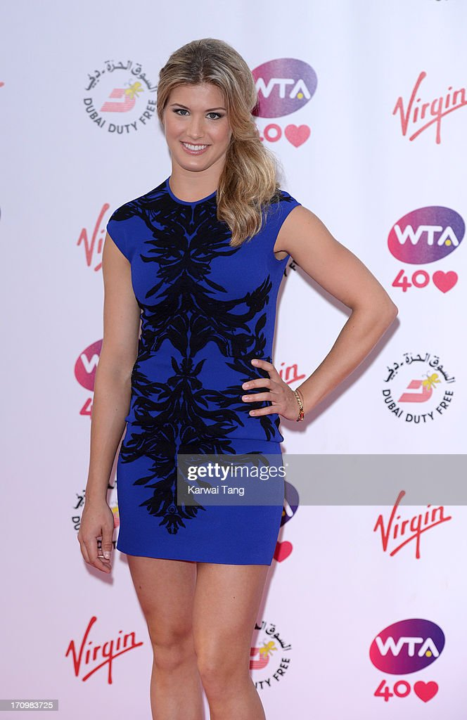 <a gi-track='captionPersonalityLinkClicked' href=/galleries/search?phrase=Eugenie+Bouchard&family=editorial&specificpeople=5678779 ng-click='$event.stopPropagation()'>Eugenie Bouchard</a> attends the annual pre-Wimbledon party at Kensington Roof Gardens on June 20, 2013 in London, England.