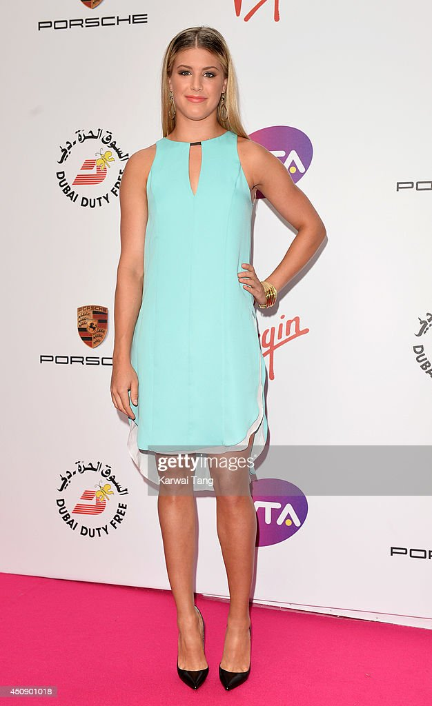 Eugenie Bouchard attends the WTA PreWimbledon party at Kensington Roof Gardens on June 19 2014 in London England