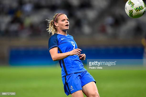 Eugenie Le Sommer of France a match between France and Colombia as part of Women's Football Olympics at Mineirao Stadium on August 3 2016 in Belo...