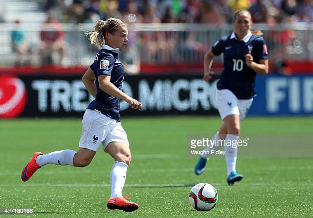 Eugenie Le Sommer of France during the FIFA Women's World Cup Group F match between France and Colombia at Moncton Stadium on June 13 2015 in Moncton...