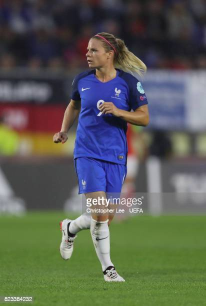 Eugenie Le Sommer of France in action during the UEFA Women's Euro 2017 Group C match between Switzerland and France at Rat Verlegh Stadion on July...