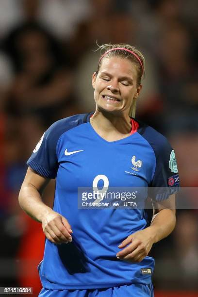 Eugenie Le Sommer of France in action during the UEFA Women's Euro 2017 Quarter Final match between France and England at Stadion De Adelaarshorst on...