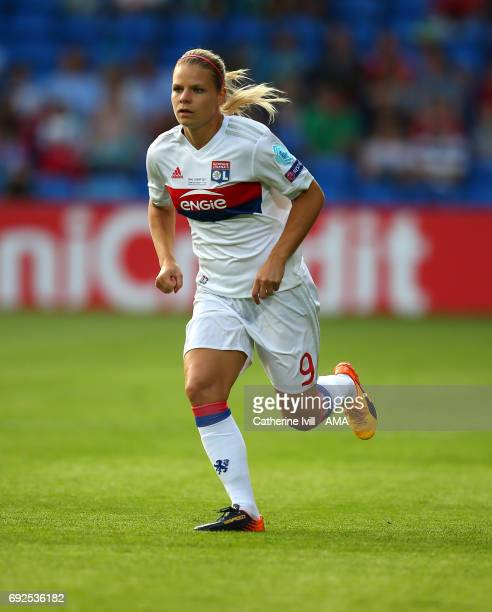 Eugenie Le Sommer of Olympique Lyonnais during the UEFA Women's Champions League Final match between Lyon and Paris Saint Germain at Cardiff City...