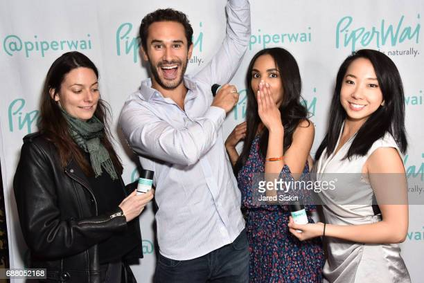 Eugenie Lujeune guest Sarah Ribner and guest attend PiperWai NYC Launch Event at Vnyl on May 24 2017 in New York City