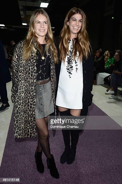Eugenie Niarchos and Bianca Brandolini d'Adda attend the Giambattista Valli show as part of the Paris Fashion Week Womenswear Spring/Summer 2016 on...