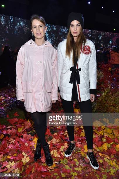 Eugenie Niarchos and Bianca Brandolini d'Adda attend the Moncler Gamme Rouge show as part of the Paris Fashion Week Womenswear Fall/Winter 2017/2018...