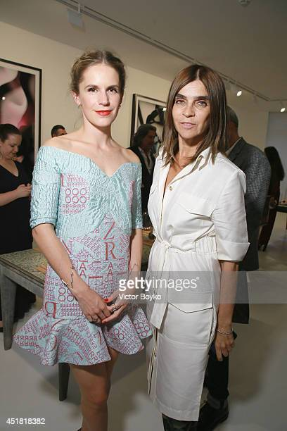 Eugenie Niarchos and Carin Roitfeld at he Venyx new collection cocktail launch as part of Paris Fashion Week HauteCouture Fall/Winter 20142015 at...