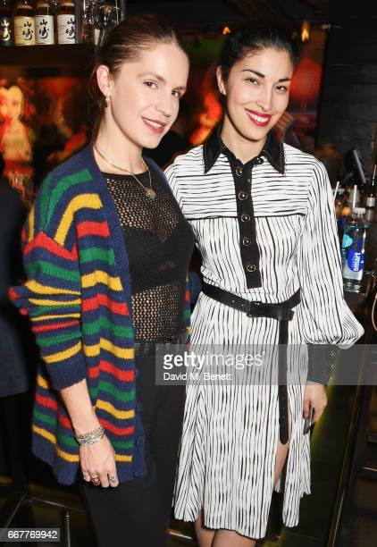 Eugenie Niarchos and Caroline Issa attend Prabal Gurung and Caroline Issa's dinner at Shochu Lounge at ROKA to celebrate the arrival of Spring 2017...