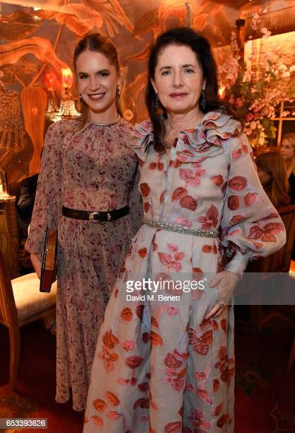 Eugenie Niarchos and Luisa Beccaria attend the Luisa Beccaria and Robin Birley event celebrating Sicilian lifestyle music and fashion at 'Upstairs'...