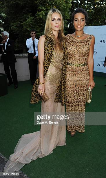 Eugenie Niarchos and Margherita Missoni attend the Valentino Garavani Archives Dinner Party on July 7 2010 in Versailles France