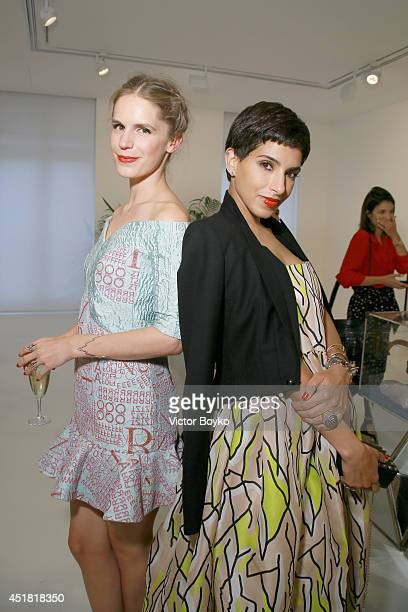 Eugenie Niarchos and Princess Deena al Juhani Abdulaziz at the Venyx new collection cocktail launch as part of Paris Fashion Week HauteCouture...