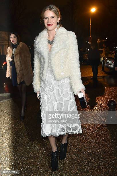 Eugenie Niarchos attends the Giambattista Valli show as part of Paris Fashion Week Haute Couture Spring/Summer 2015 on January 26 2015 in Paris France