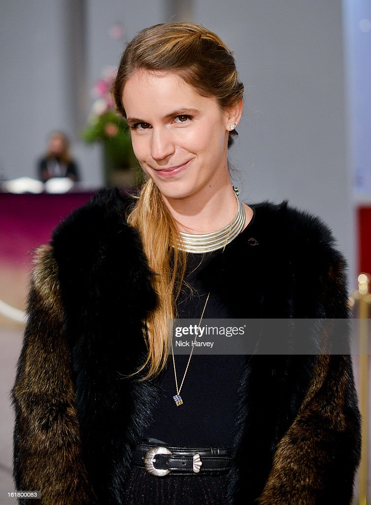 Eugenie Niarchos attends the Issa London show during London Fashion Week Fall/Winter 2013/14 at Somerset House on February 16, 2013 in London, England.