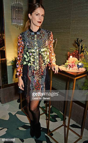 Eugenie Niarchos attends the launch of the new Venyx Oseanyx collection hosted by Eugenie Niarchos and Lucy Yeomans at Sexy Fish on April 26 2016 in...