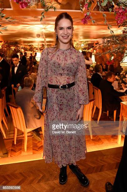 Eugenie Niarchos attends the Luisa Beccaria and Robin Birley event celebrating Sicilian lifestyle music and fashion at 'Upstairs' at 5 Hertford...