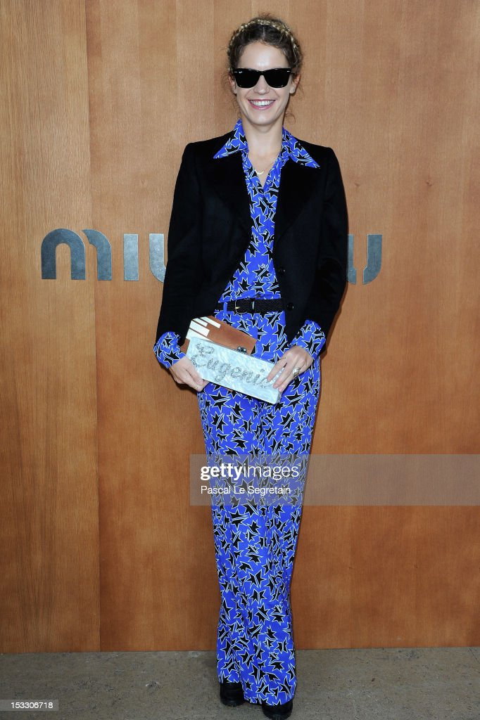 Eugenie Niarchos attends the Miu Miu Spring/Summer 2013 show as part of Paris Fashion Week on October 3, 2012 in Paris, France.