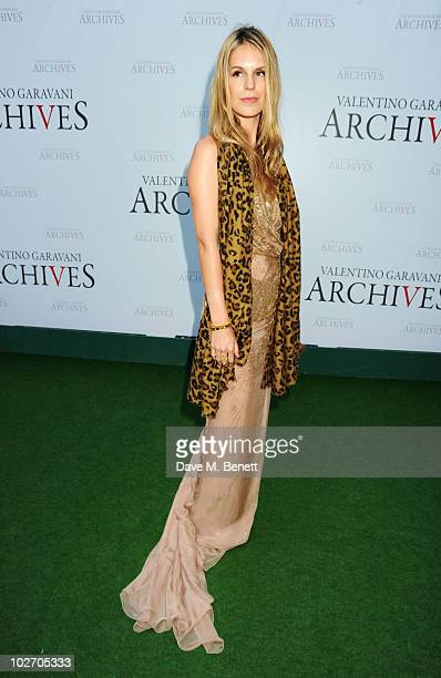 Eugenie Niarchos attends the Valentino Garavani Archives Dinner Party on July 7 2010 in Versailles France