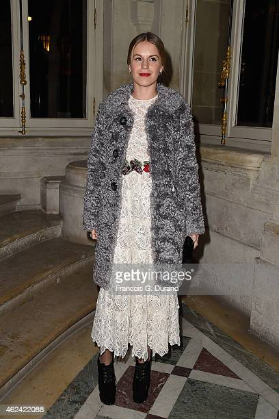 Eugenie Niarchos attends the Valentino show as part of Paris Fashion Week Haute Couture Spring/Summer 2015 on January 28 2015 in Paris France