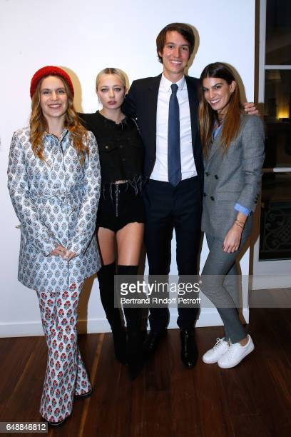 Eugenie Niarchos Caroline Vreeland CEO of Rimowa Alexandre Arnault and Bianca Brandolini d'Adda attend the Opening of the Boutique Rimowa 73 Rue du...