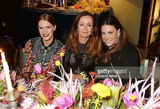 Eugenie Niarchos Lucy Yeomans and Mary Katrantzou attend the launch of the new Venyx Oseanyx collection hosted by Eugenie Niarchos and Lucy Yeomans...