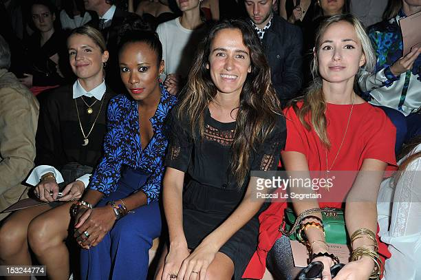 Eugenie Niarchos Shala Monroque Coco Brandolini d'Adda and Elisabeth von Thurn und Taxis attend the Valentino Spring / Summer 2013 show as part of...