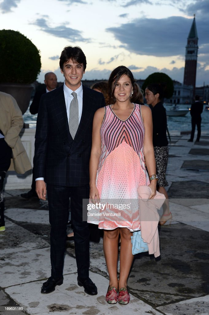 Eugenio Amos and <a gi-track='captionPersonalityLinkClicked' href=/galleries/search?phrase=Margherita+Missoni&family=editorial&specificpeople=240440 ng-click='$event.stopPropagation()'>Margherita Missoni</a> attend the Dinner At 'Fondazione Cini, Isola Di San Giorgio' during the 2013 Venice Biennale on May 29, 2013 in Venice, Italy.