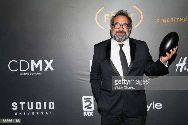 Eugenio Caballero attends the Premio Iberoamericano De Cine Fenix 2017 press room at Teatro de La Ciudad on December 6 2017 in Mexico City Mexico