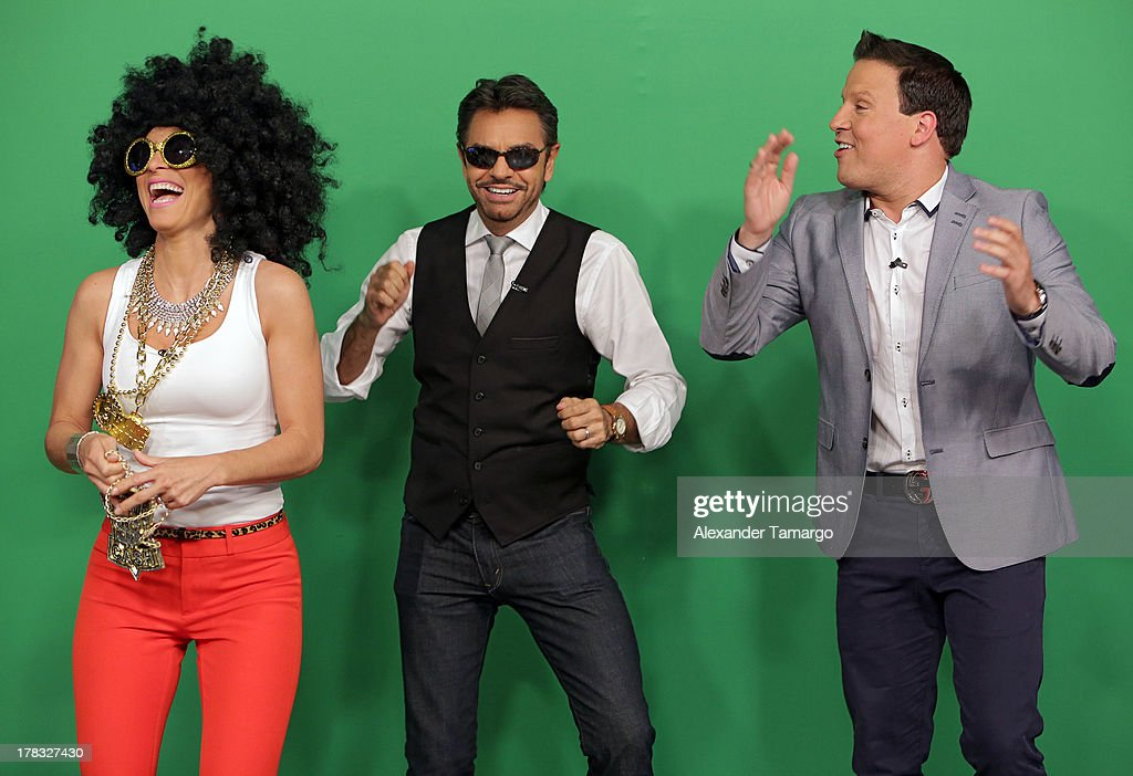 Eugenio Derbez Alessandra Rosaldo and Raul Gonzalez make an appearance to promote the film 'Instructions Not Included' on Despierta America at...