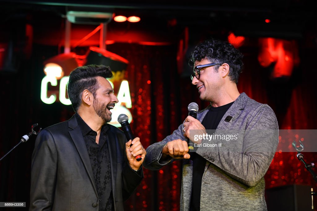 Eugenio Derbez and Jamie Camil attend Fuerza Mexico Fundraiser at Conga Room on October 26, 2017 in Los Angeles, California.