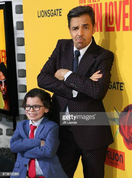 Eugenio Derbez and Raphael Alejandro attends the premiere of Pantelion Films' 'How To Be A Latin Lover' attends on April 26 2017 in Hollywood...