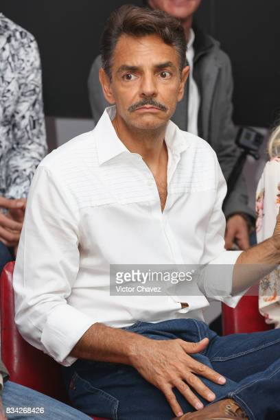 Eugenio Derbez attends a press conference and photocall to promote the film 'El Complot Mongol' at Club de Periodistas de Mexico on August 17 2017 in...